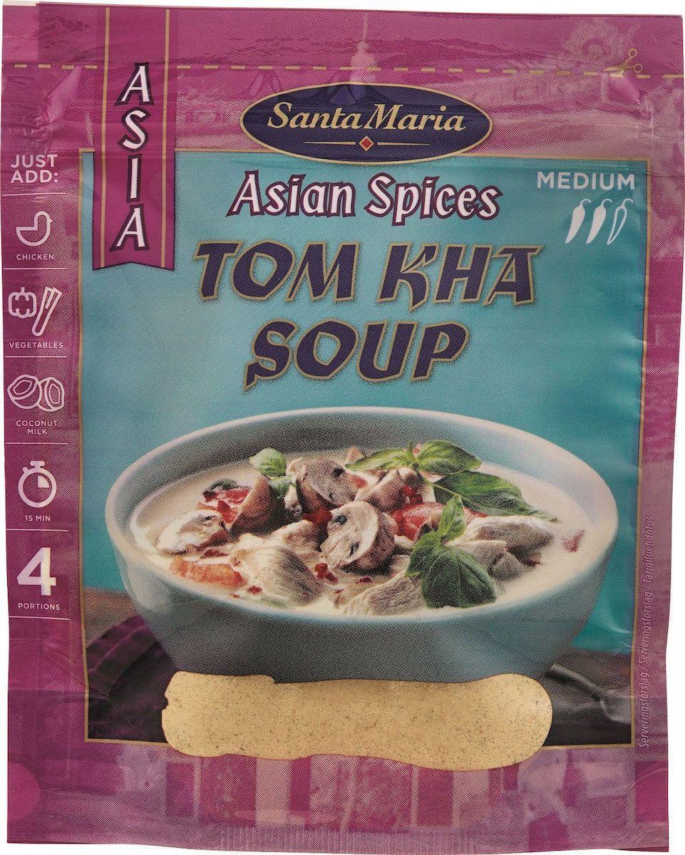 Santa Maria Суповая смесь Том Кха, 30 г0120710Суп Том Кха является кулинарной изюминкой всего азиатского региона. Добавление кокосовых сливок к смеси специй придает ей бархатистую текстуру. Ингредиенты для супа могут меняться, но смесь Том Кха необходима в любом случае – это душа вашего супа.