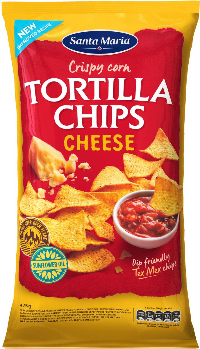 Santa Maria Чипсы кукурузные с сыром, 475 г0120710Кукурузные чипсы с добавлением вкусовых добавок, могут использоваться как самостоятельное блюдо.