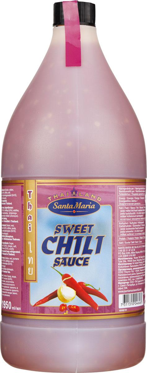 Santa Maria сладкий соус чили, 1,95 л13002Сладкий соус чили известен также под названием Азиатский кетчуп. Применяется для приготовления восточных тушеных блюд из мяса, рыбы, птицы, морепродуктов и овощей. Можно использовать как самостоятельный дип-соус.