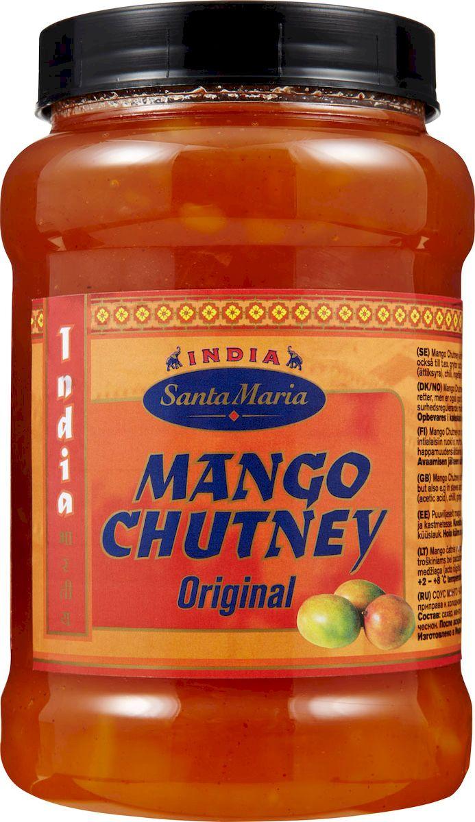 Santa Maria соус Манго Чатни, 1,2 кг4650Сладко-пряный соус Santa Maria Манго Чатни - родом из Индии. Манго для соуса готовится медленно с сахаром, пряными травами и специями. Чатни - излюбленная приправа к холодному мясу и мясу птицы, к сырам, пирогам со свининой и бутербродам.