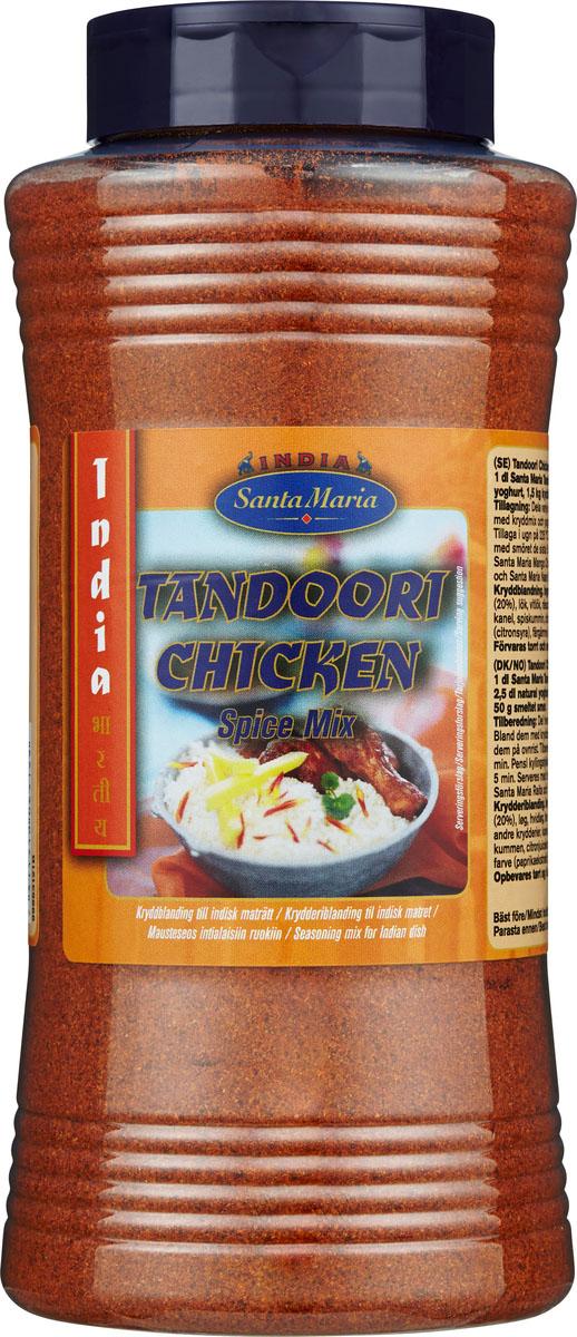 Santa Maria Приправа Тандури для куриных блюд, 690 г15210Приправа Тандури для куриных блюд используется в индийской кухне.Цыплята тандури - популярное индийское блюдо пенджабского происхождения, представляющее собой маринованных цыплят, запеченных в печи тандури. Для блюда птицу целиком или частями маринуют в кисломолочном продукте с добавлением специй, а затем запекают на большом огне в печи.Уважаемые клиенты! Обращаем ваше внимание, что полный перечень состава продукта представлен на дополнительном изображении.