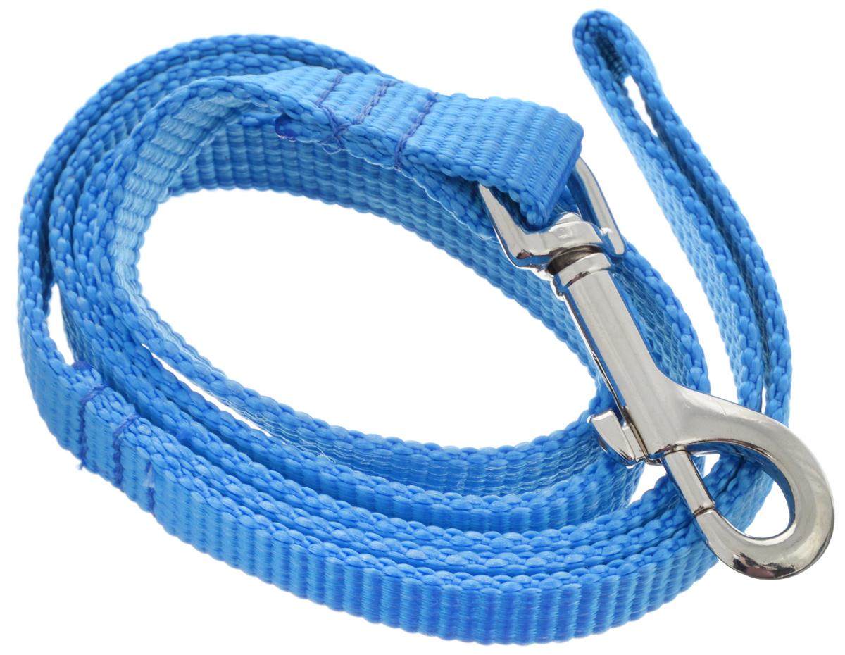 Поводок капроновый для собак Аркон, цвет: синий, ширина 2 см, длина 1 м0120710Поводок для собак Аркон изготовлен извысококачественного цветного капрона и снабжен металлическим карабином.Изделие отличается не только исключительной надежностью иудобством, но и привлекательным современным дизайном. Поводок - необходимый аксессуар для собаки. Ведь в опасныхситуациях именно он способен спасти жизнь вашему любимомупитомцу. Иногда нужно ограничивать свободу своегочетвероногого друга, чтобы защитить его или себя отнеприятностей на прогулке. Длина поводка: 1 м.Ширина поводка: 2 см.Уважаемые клиенты! Обращаем ваше внимание на то, что товар может содержать светодиодную ленту.