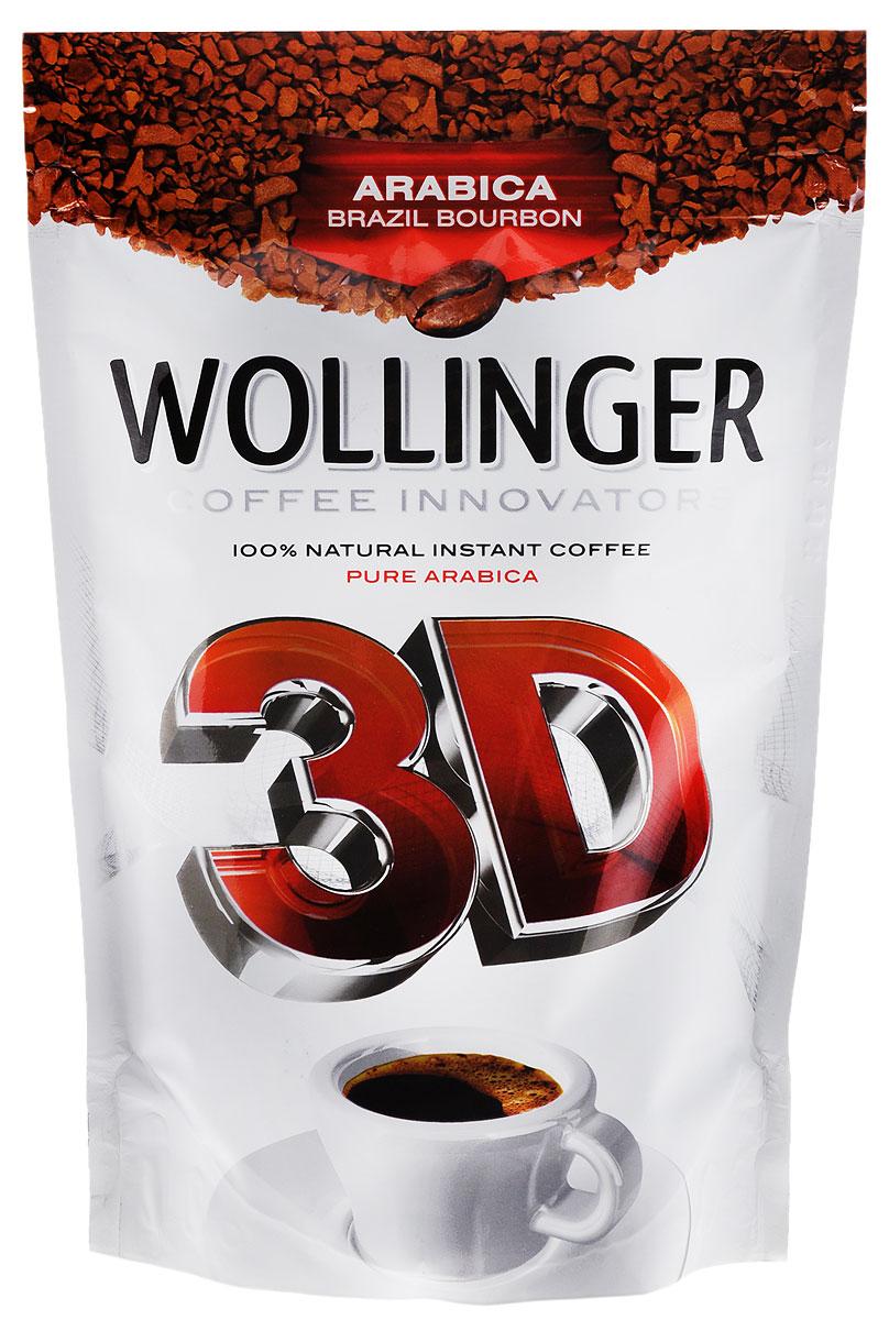 Wollinger 3D кофе растворимый, 150 г4602076000166Wollinger 3D - кофе высшего качества категории VG QUALITY класса UNQ — Unusual Good Quality сорт Arabica Brazil Bourbon. Выращен на плантациях фабрики Cacique de Cafe Soluvel в городе Лондрина, штат Парана, Бразилия. Обладает сбалансированным и очень богатым вкусом. Откройте новое измерение вкуса и аромата Wolinger 3D.