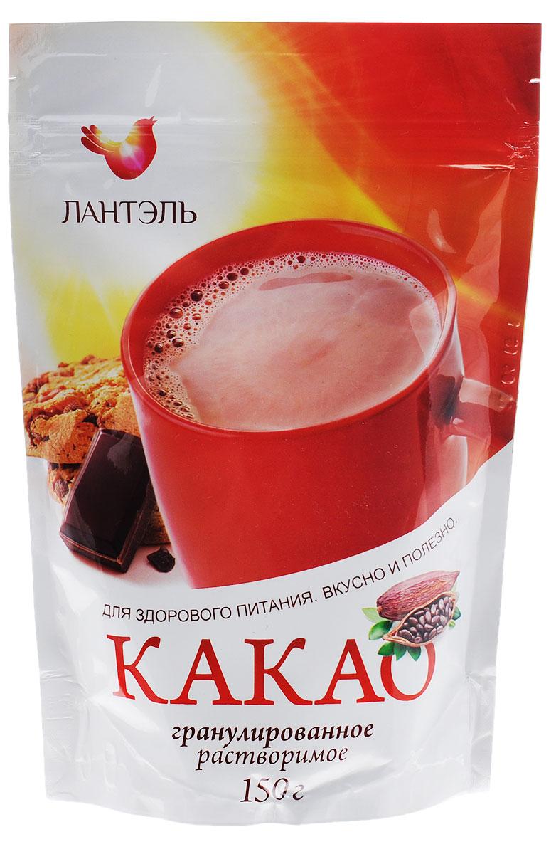 Лантэль какао гранулированный, 150 г0120710Какао Лантэль не только вкусный, но и очень полезный напиток, который содержит большое количество веществ полезных для человеческого организма. Какао-порошок богат белком, а входящие в масло какао жирные кислоты нормализуют уровень холестерина в крови. В какао-порошке содержатся тонизирующие вещества, такие как теофиллин, теобромин, кофеин, а также какао содержит антидепрессант фенилэфиламин.