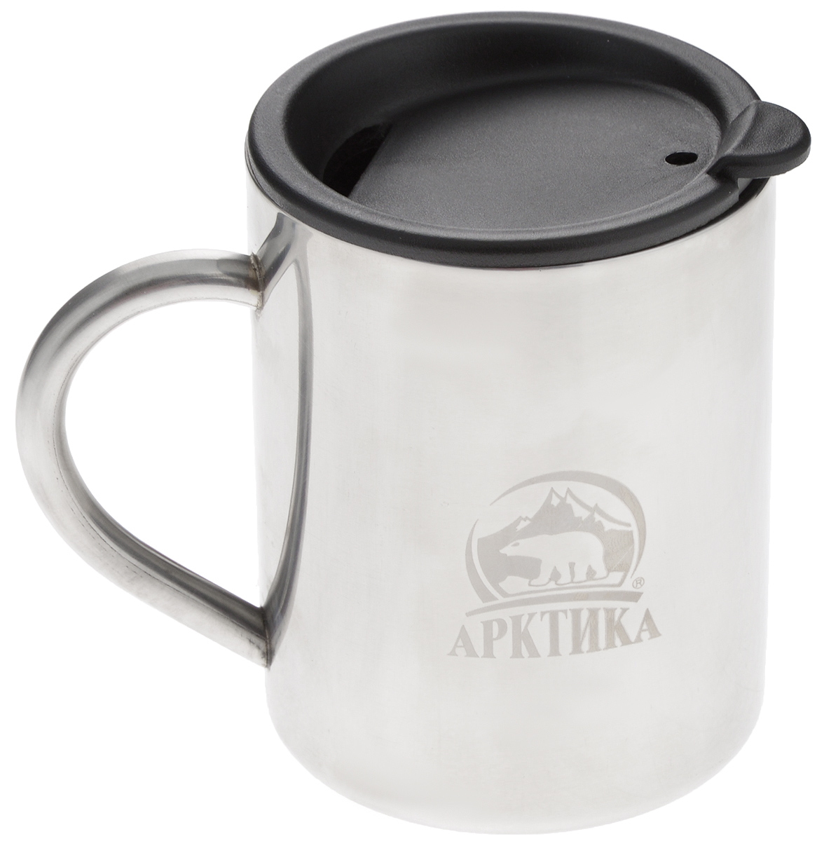 Термокружка Арктика, цвет: металлик, черный, 0,4 л67742Термокружка Арктика одинаково хороша и при использовании дома, если вы любите растягивать удовольствие от напитка и вам не нравится, что он так быстро остывает, и на даче, где такая посуда особенно впору в силу своей прочности, долговечности и практичности. Изделием приятно пользоваться, ведь оно не обжигает руки, его легко мыть. Термокружка выполнена из прочной нержавеющей стали, благодаря чему ее можно не бояться уронить. Имеется пластиковая крышка с силиконовой вставкой. В ней расположено отверстие, через которое можно пить.Диаметр кружки (по верхнему краю): 7,8 см.Высота кружки (без учета крышки): 10 см.