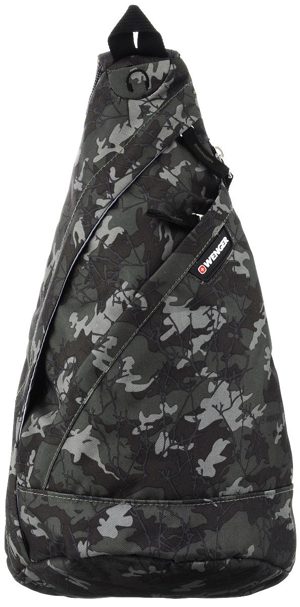 Рюкзак Wenger, цвет: камуфляж, 7 л2310600550Рюкзак Wenger выполнен из высококачественного полиэстера. Он имеет 1 вместительное отделение на застежке-молнии. Внутри отделения имеется мягкий карман для мобильного телефона или плеера. Спереди расположен вместительный карман на застежке-молнии с органайзером для мелочей. Также сбоку имеется карман на застежке-молнии. На плечевом ремне расположен небольшой сетчатый карман. Особенности рюкзака:Один плечевой ремень. Отверстие для провода наушников.Сетчатый карман для телефона.Карман для аксессуаров.Карман-органайзер.