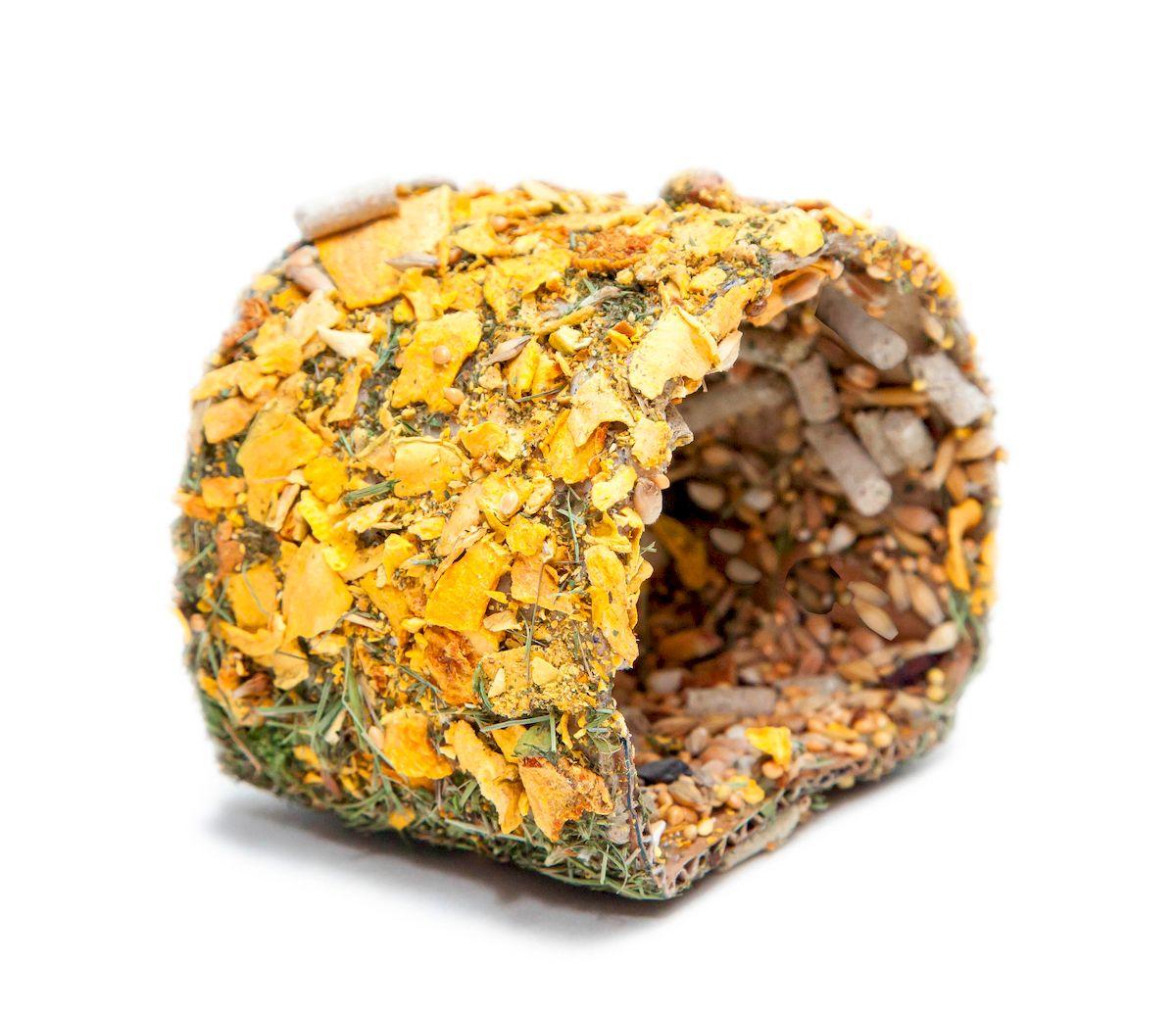 Лакомство для грызунов Престиж Домик Хомы101246Домик Хомы Престиж - это прекрасное лакомство для домашних грызунов. Лакомство для грызунов не только порадует их вкусом, но и послужит в качестве удобного места для ночлега. Домик наполнен сушеными яблоками, тыквой, морковью, отборным зерном и разнообразием семечек. Домик является не только чудесной игрушкой, но и источником витаминов и минералов, необходимых для правильного развития домашних грызунов (кроликов, морских свинок, шиншилл.)Состав: зеленое сено Люкс премиум класса, сушеные фрукты и овощи (яблоки, тыква, морковь), просо, семена подсолнечника, гранулы для хомяков, пшеница, овес, кукуруза.Товар сертифицирован.