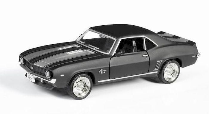 Машина металлическая 1:32 Chevrolet Camaro 1969, инерционная, серый матовый цвет, 16.5 x 7.5 x 7 см— одна из наиболее актуальных моделей, которая за счет безупречного качества сборки и интересного дизайна пользуется хорошим спросом.