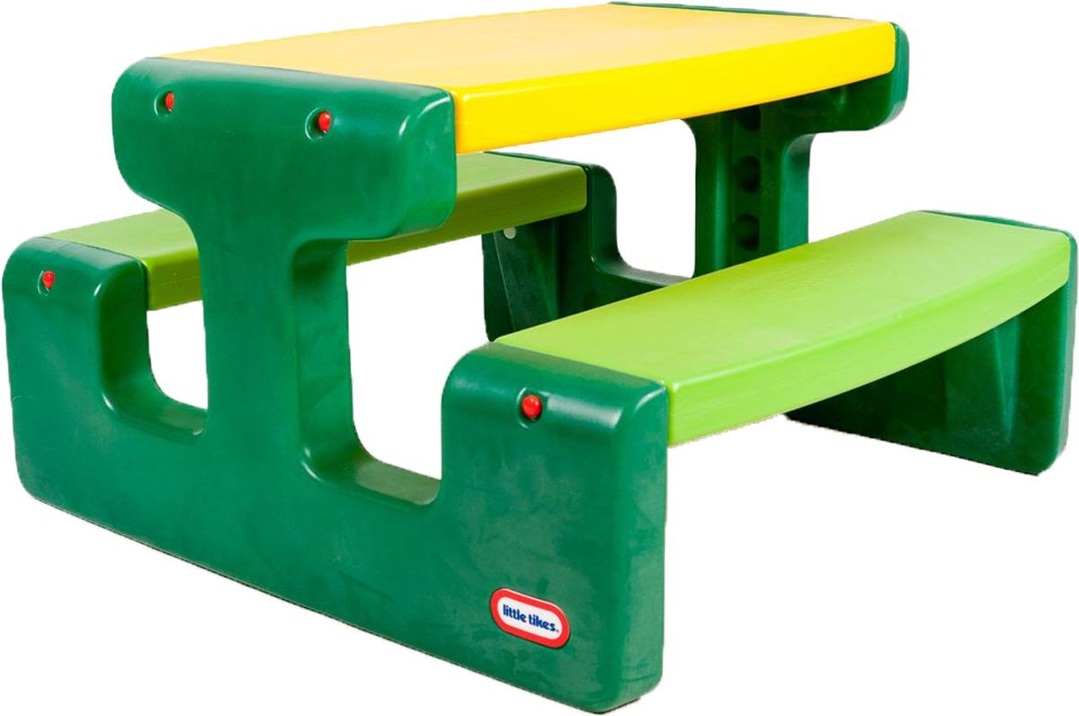 Little Tikes Стол для пикника цвет зеленый желтый купить каталка little tikes