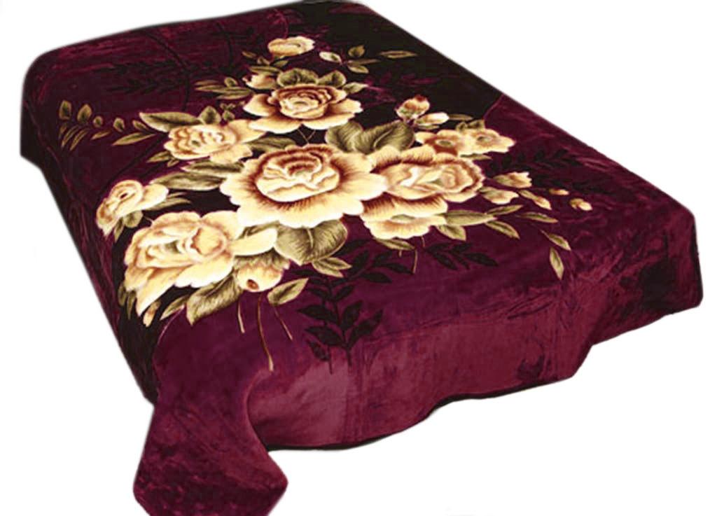 Плед Tamerlan, нестриженый, цвет: бордовый, 200 х 240 см. 68422GREENплотность 440 гр/м2