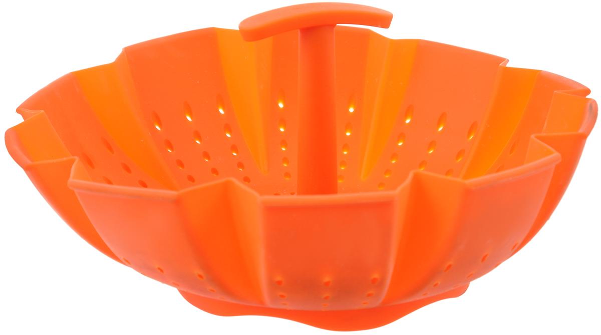 Пароварка Mayer & Boch, цвет: оранжевый, 900 мл4991Пароварка Mayer & Boch выполнена из высококачественного силикона и предназначена для готовки на пару и разогрева. Изделие можно безбоязненно помещать в морозильную камеру, холодильник, микроволновую печь, посудомоечную машину и духовой шкаф. Благодаря материалу пароварка не ржавеет, на ней не образуются пятна.Диаметр по верхнему краю: 22 см.Высота: 10 см.