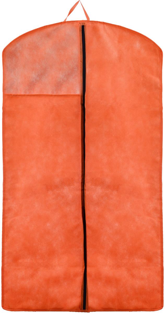 Чехол для верхней одежды Miolla, цвет: оранжевый, 100 х 60 смCHL-1-4Чехол для верхней одежды Miolla на застежке-молнии выполнен из высококачественного спанбонда (нетканого материала). Прозрачное полиэтиленовое окошко позволяет видеть содержимое чехла. Подходит для длительного хранения вещей.Чехол обеспечивает вашей одежде надежную защиту от влажности, повреждений и грязи при транспортировке, от запыления при хранении и проникновения моли. Чехол обладает водоотталкивающими свойствами, а также позволяет воздуху свободно поступать внутрь вещей, обеспечивая их кондиционирование. Это особенно важно при хранении кожаных и меховых изделий.Размер чехла: 100 х 60 см.