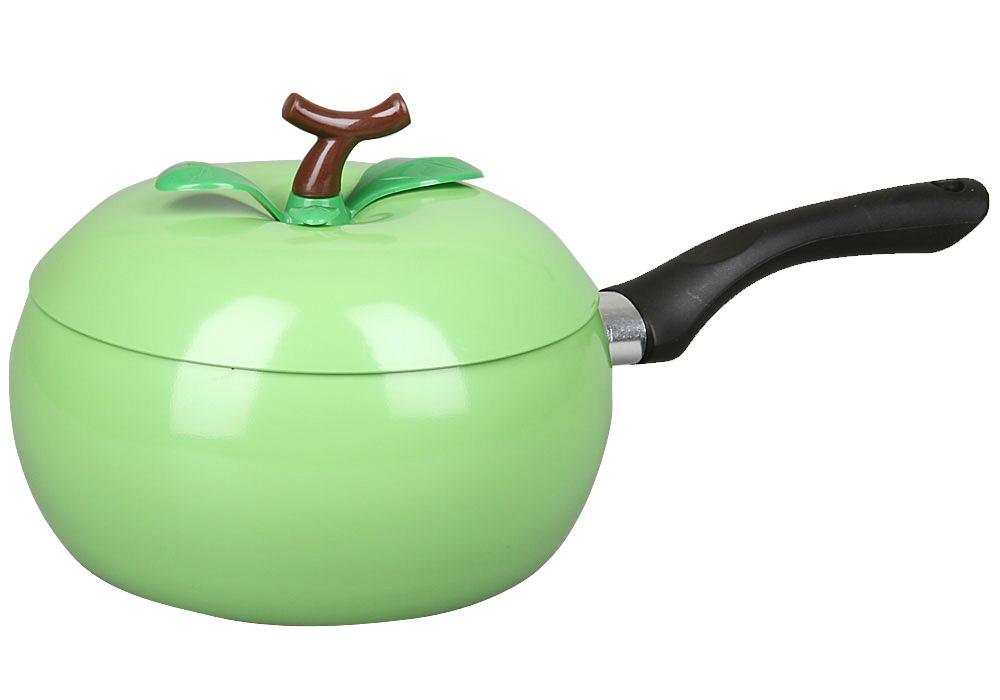 Соусник Pomi d'Oro Vegetto с крышкой, с антипригарным покрытием, 2 л21236_зеленыйСоусник Pomi dOro Vegetto выполнен из высококачественной углеродистой стали с антипригарным покрытием. Антипригарное покрытие позволяет готовить практически без использования масла. Такая посуда отличается хорошей стойкостью к внешним воздействиям и не деформируется при нагревании. Утолщенное дно обеспечивает равномерное распределение идлительное сохранение тепла.Соусник оснащен эргономичной пластиковой ручкой. Соусник Pomi dOro Vegetto станет незаменимым помощником на кухне и прослужитдолгие годы. Подходит для всех видов плит, кроме индукционных.