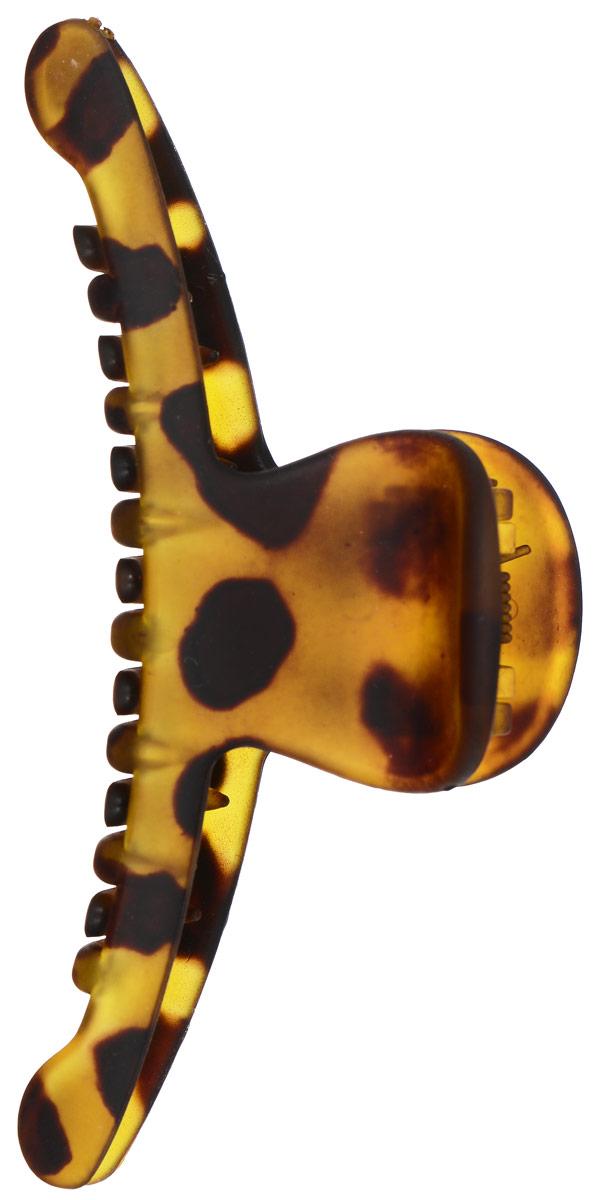 Заколка-краб Mitya Veselkov, цвет: желтый, коричневый. KRAB2-M2GRE584480Оригинальная заколка-краб Mitya Veselkov изготовлена из качественного пластика . Удобный зажим заколки надежно фиксирует волосы и не травмирует их. С помощью заколки-краба можно создавать различные прически для неповторимого образа.Оригинальность и удобство заколки-краба для волос делают ее практичным и модным аксессуаром.