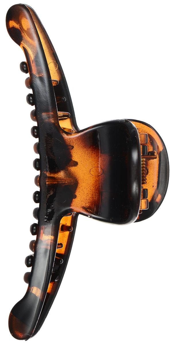 Заколка-краб Mitya Veselkov, цвет: коричневый. KRAB2-G2BRO577794Оригинальная заколка-краб Mitya Veselkov изготовлена из качественного пластика. Заколка представлена в коричневом цвете. Удобный зажим заколки надежно фиксирует волосы и не травмирует их. С помощью заколки-краба можно создавать различные прически для неповторимого образа.Оригинальность и удобство заколки-краба для волос делают ее практичным и модным аксессуаром.