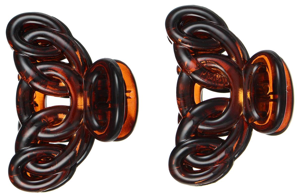 Заколка-краб Mitya Veselkov, цвет: коричнево-красный, 2 шт. KRAB4-G2RED2104Оригинальная заколка-краб Mitya Veselkovизготовлена из качественного пластика. Удобный зажим заколки надежно фиксирует волосы и не травмирует их. С помощью заколки-краба можно создавать различные прически для неповторимого образа.Оригинальность и удобство заколки-краба для волос делают ее практичным и модным аксессуаром.