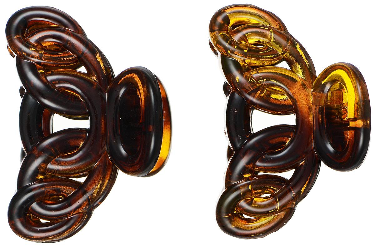 Заколка-краб Mitya Veselkov, цвет: коричневый, 2 шт. KRAB4-G2BRO20701Оригинальная заколка-краб Mitya Veselkovизготовлена из качественного пластика. Удобный зажим заколки надежно фиксирует волосы и не травмирует их. С помощью заколки-краба можно создавать различные прически для неповторимого образа.Оригинальность и удобство заколки-краба для волос делают ее практичным и модным аксессуаром.
