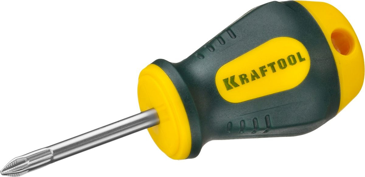 Отвертка Kraftool Expert, PH 1, 38 мм80621Профессиональная диэлектрическая отвертка KRAFTOOL X-Drive серии EXPERT выполнена из высококачественных материалов. Кованый закаленный хромомолибденованадиевый стержень обеспечивает длительный срок службы. Система насечек NSS предотвращает выскальзывания из крепежа. Отвертка оснащена эргономичной рукояткой с нескользящим покрытием. Длина рабочей части: 38 мм.Размер рабочей части: PH 1.