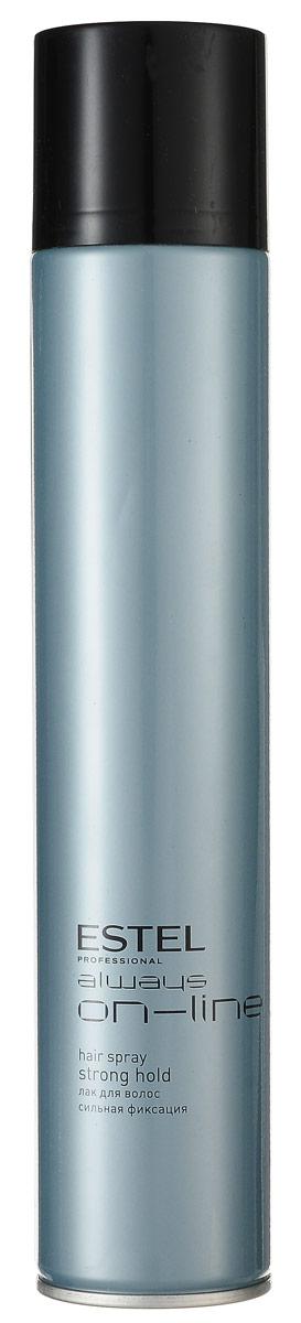 Estel Always On-Line Лак для волос сильная фиксация 400 млOL.12/400Estel Always On-Line Лак для волос сильная фиксация. Прекрасно подходит для ежедневной салонной практики. Удобен для создания конкурсных работ в технической номинации, особенно по длинным волосам. Текстура лака позволяет прорабатывать образ на различных стадиях его готовности, давая возможность внести изменения и дополнения в прическу.Лак обеспечивает хорошую фиксацию, придает естественный блеск.