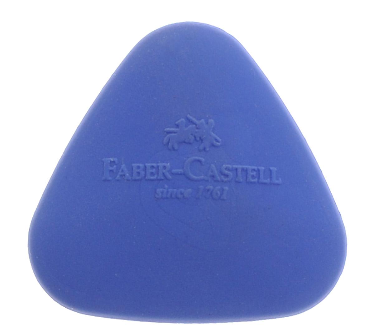 Faber-Castell Ластик формованный треугольный цвет синий1060319Ластик Faber-Castell - незаменимый аксессуар на рабочем столе не только школьника или студента, но и офисного работника. Он легко и без следа удаляет надписи, сделанные карандашом. Ластик имеет форму треугольника и его очень удобно держать в руке.