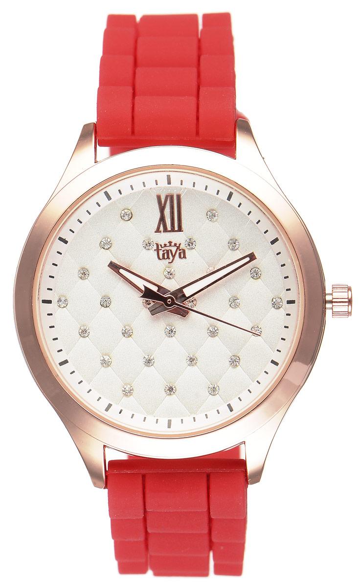 Zakazat.ru: Часы наручные женские Taya, цвет: золотистый, красный. T-W-0201