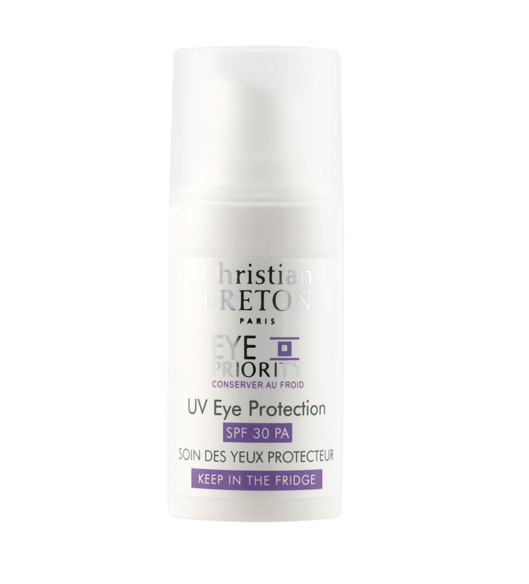 Christian Breton Крем защитный для кожи вокруг глаз SPF30 15 мл122014Специально разработанный крем для кожи вокруг глаз с превосходной защитой от солнечного излучения. Крем подтягивает кожу и разглаживает морщинки, блокирует негативные факторы окружающей среды и препятствует фотостарению.