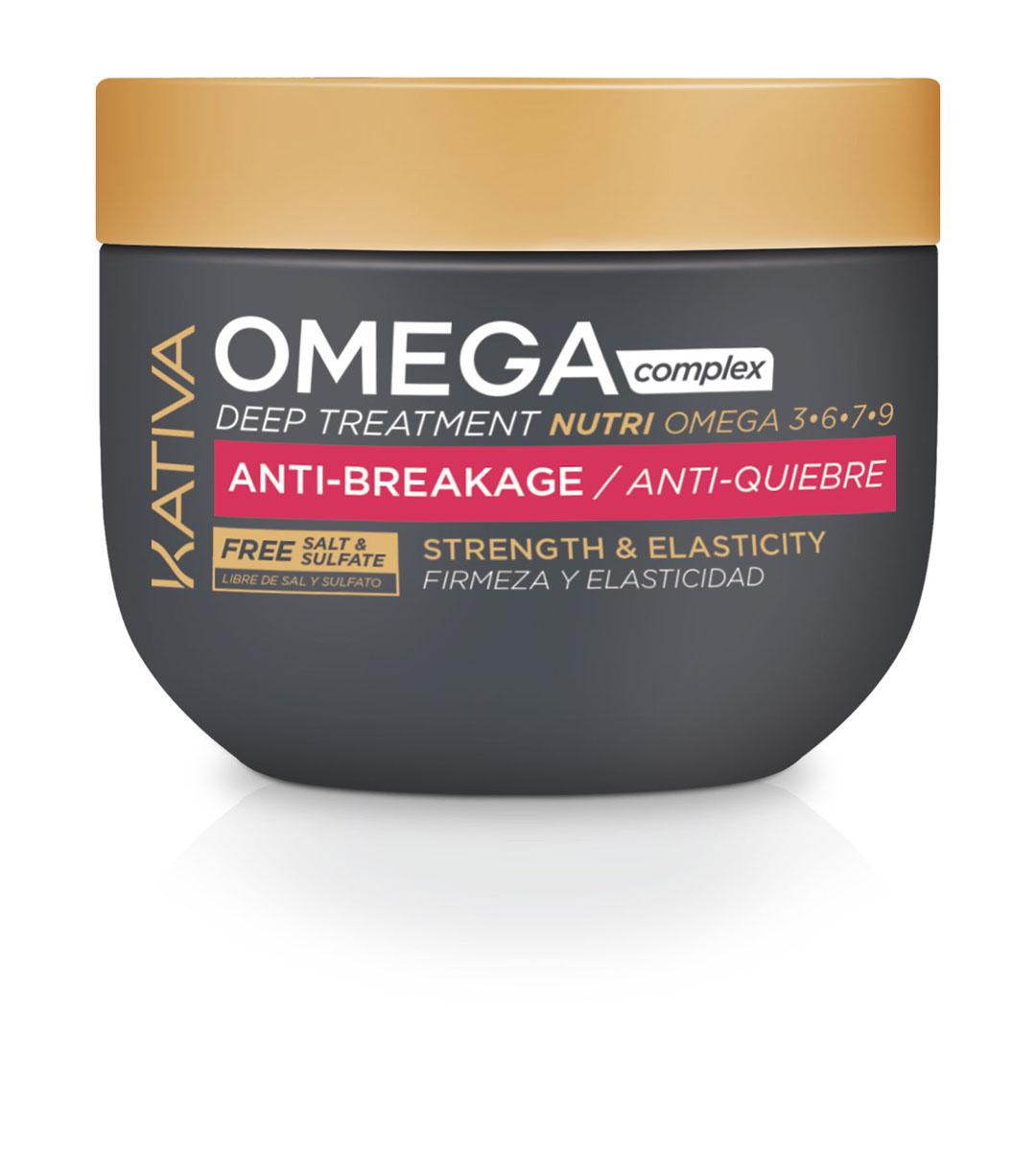 Kativa Маска для поврежденных волос OMEGA COMPLEXFS-00103Питательная маскаKativa для восстановления поврежденных волос содержит комплекс омега-кислот и аминокислоты. Особая формула маски помогает вернуть волосаместественную красоту, блеск и шелковистость.