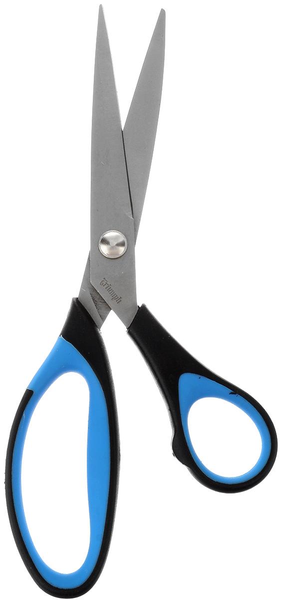 Ножницы портновcкие Hemline Multi-cut, цвет: черный, синий, серый, длина 21 смFS-00897Ножницы портновские Hemline Multi-cut изготовлены из высококачественной стали с титановым покрытием. Увеличенного размера пластиковые ручки с резиновыми вставками удобны в использовании как левой так и правой рукой. Лезвия ножниц заточены одинаково остро, что гарантирует первоклассную резку. Ножницы предназначены для обработки краев и срезов при работе с тканью, бумагой и обивочным материалом и незаменимы при раскрое подкладочной ткани. Они также пригодятся при раскрое слабо осыпающих тканях, таких, как сукно и драп. Длина ножниц: 21 см. Длина лезвия: 8 см.