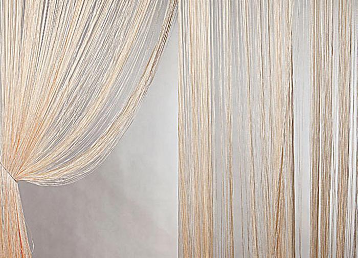 Штора нитяная Magnolia Кисея, цвет: светло-персиковый, высота 300 смK100Штора нитяная Magnolia Кисея, выполненная из 100% полиэстера, подходит как для зонирования пространства, так и для декорации окна, как самостоятельное решение или дополнение к шторам. Такая штора великолепно дополнит интерьер вашего дома и станет отличным дизайнерским решением.