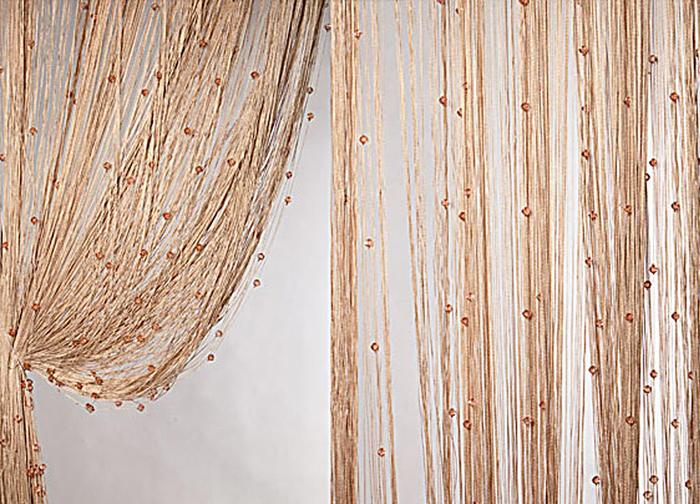 Штора нитяная Magnolia Кисея, цвет: светло-коричневый, высота 300 см. XLF SJ 14PANTERA SPX-2RSДекоративная нитяная штора для дизайнерских решений в вашем доме. Подходит как для зонирования пространства, а так же декорации окна, как самостоятельное решение или дополнение к шторам.