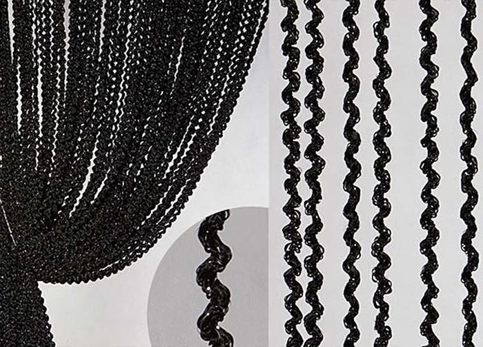Штора нитяная Magnolia Кисея, на ленте, цвет: черный, высота 300 см. XLF LWL-9С 537299 V1533Штора нитяная Magnolia Кисея выполнена из полиэстера. Изделие прекрасно подойдет для дизайнерских решений в вашем доме. Подходит, как для зонирования пространства так и декорации окна, как самостоятельное решение или дополнение к шторам.