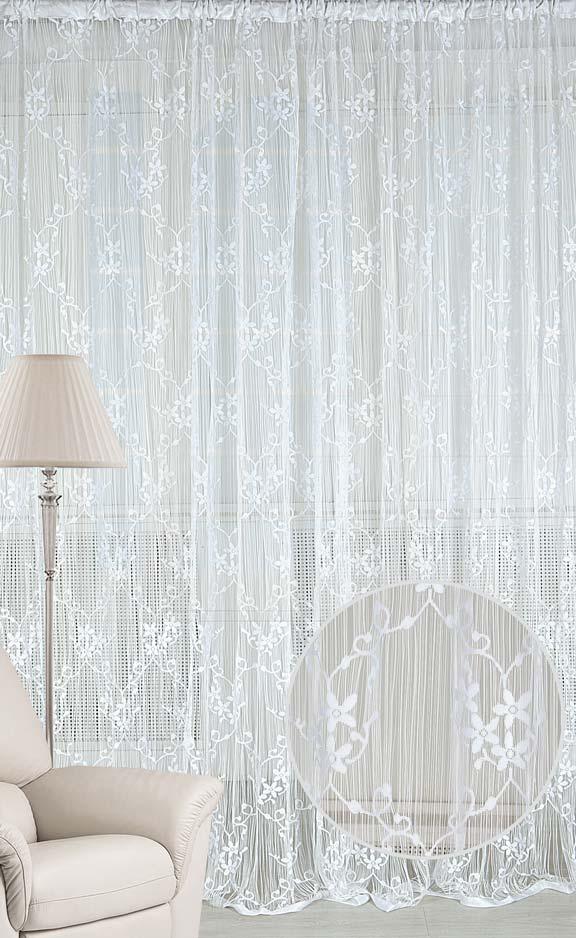 Штора нитяная Magnolia Кисея, на ленте, цвет: белый, высота 250 см. CQ M 90008(01)DW90Штора нитяная Magnolia Кисея выполнена из полиэстера. Изделие прекрасно подойдет для дизайнерских решений в вашем доме. Подходит как для зонирования пространства, так и декорации окна, как самостоятельное решение или дополнение к шторам.