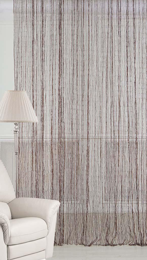 Штора нитяная Magnolia Кисея, цвет: серебро, коричневый, высота 300 см. XLF JW-9808-8956251325Декоративная нитяная штора для дизайнерских решений в вашем доме. Подходит как для зонирования пространства, а так же декорации окна, как самостоятельное решение или дополнение к шторам.