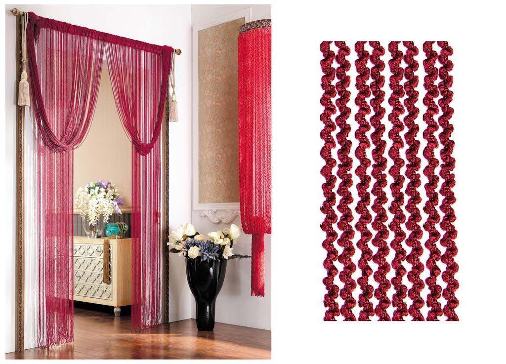 Штора нитяная Magnolia Кисея, цвет: красный, высота 290 см. CQ X055-4SVC-300Декоративная нитяная штора для дизайнерских решений в вашем доме. Подходит как для зонирования пространства, а так же декорации окна, как самостоятельное решение или дополнение к шторам.