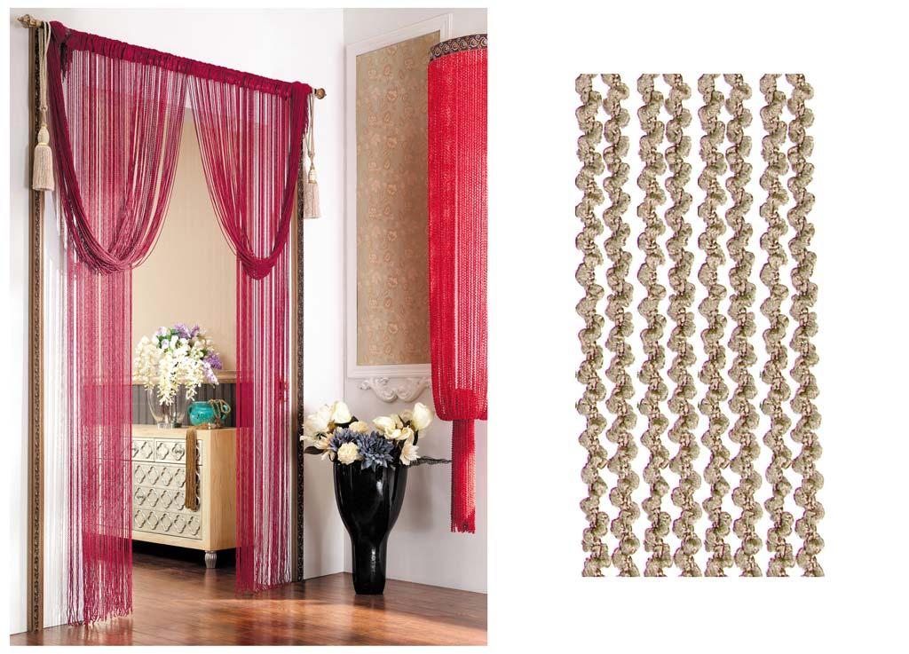 Штора нитяная Magnolia Кисея, цвет: бежевый, высота 290 см. CQ X055-202BH-UN0502( R)Декоративная нитяная штора для дизайнерских решений в вашем доме. Подходит как для зонирования пространства, а так же декорации окна, как самостоятельное решение или дополнение к шторам.