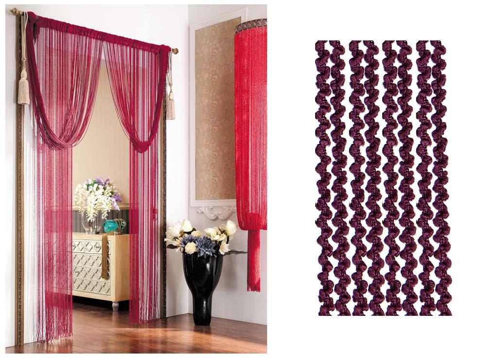 Штора нитяная Magnolia Кисея, цвет: бордовый, высота 290 см. CQ X055-205SVC-300Декоративная нитяная штора для дизайнерских решений в вашем доме. Подходит как для зонирования пространства, а так же декорации окна, как самостоятельное решение или дополнение к шторам.