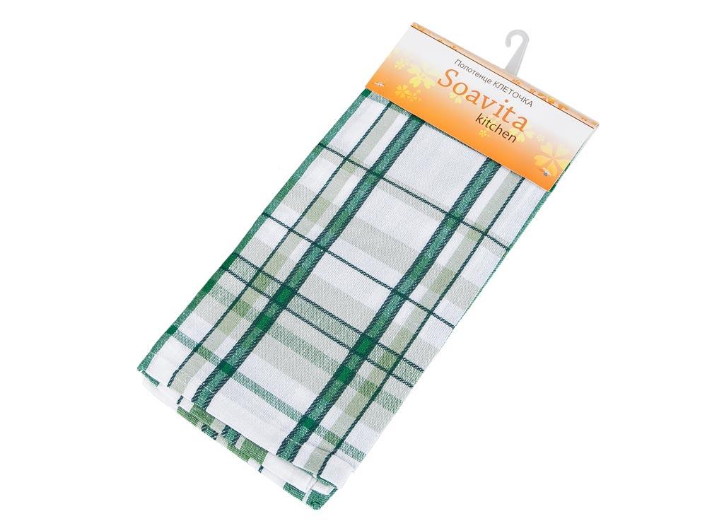 Полотенце кухонное Soavita Клеточка, цвет: зеленый, фисташковый, 45 х 65 смSVC-300Кухонное полотенце Soavita Клеточка выполнено из хлопка. Полотенца используются для протирки различных поверхностей, также широко применяются в быту.Перед использованием постирать при температуре не выше 40 градусов.Размер полотенца: 48 х 90 см.