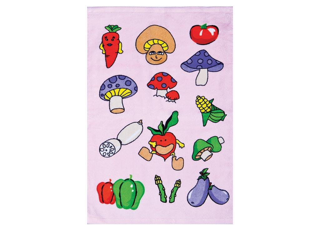 Полотенце кухонное Soavita Грибы, 40 х 60 см. 87424 полотенце кухонное soavita цвет коралловый диаметр 65 см 48800