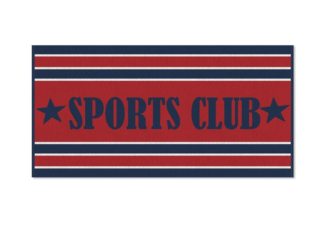 Полотенце Soavita Premium. Sports Club, цвет: красный, синий, белый, 70 х 140 см68/5/3Полотенце Soavita Premium. Sports Club выполнено из 100% хлопка. Изделие отлично впитывает влагу, быстро сохнет, сохраняет яркость цвета и не теряет форму даже после многократных стирок. Полотенце очень практично и неприхотливо в уходе. Оно создаст прекрасное настроение и украсит интерьер в ванной комнате.