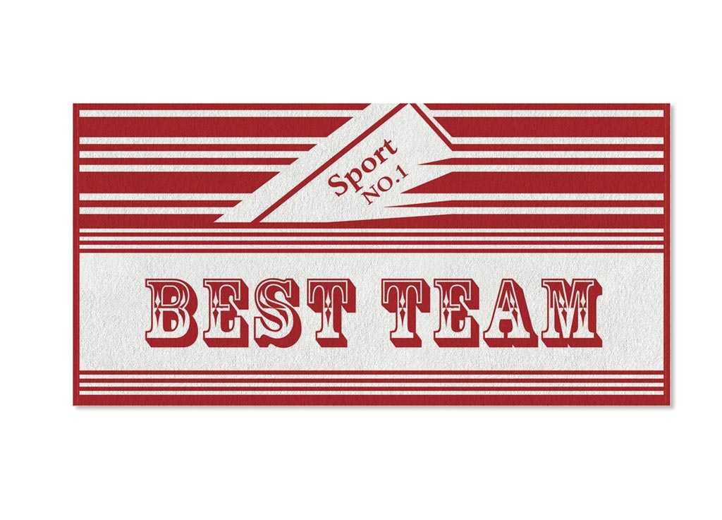 Полотенце Soavita Premium. Best Team, цвет: красный, белый, 70 х 140 см1004900000360Полотенце Soavita Premium. Best Team выполнено из 100% хлопка и украшено надписями. Изделие отлично впитывает влагу, быстро сохнет, сохраняет яркость цвета и не теряет форму даже после многократных стирок. Полотенце очень практично и неприхотливо в уходе. Оно создаст прекрасное настроение и украсит интерьер в ванной комнате.