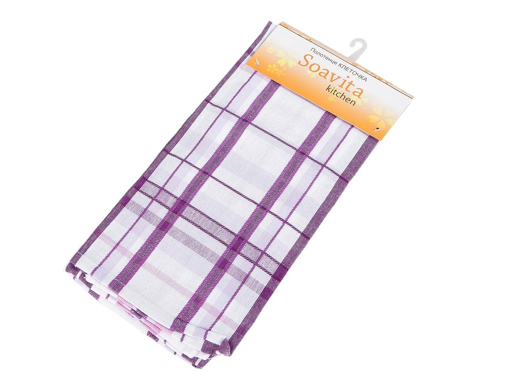 Полотенце Soavita Клеточка, цвет: белый, сиреневый, розовый, 45 х 65 смCLP446Кухонное полотенце Soavita Клеточка, выполненное из 100% хлопка, оформлено клетчатым рисунком. Изделие предназначено для использования на кухне и в столовой. Высочайшее качество материала гарантирует безопасность использования, высокую износостойкость и долгий срок службы. Такое полотенце станет отличным вариантом для практичной и современной хозяйки.Рекомендуется стирка при температуре 40°C.
