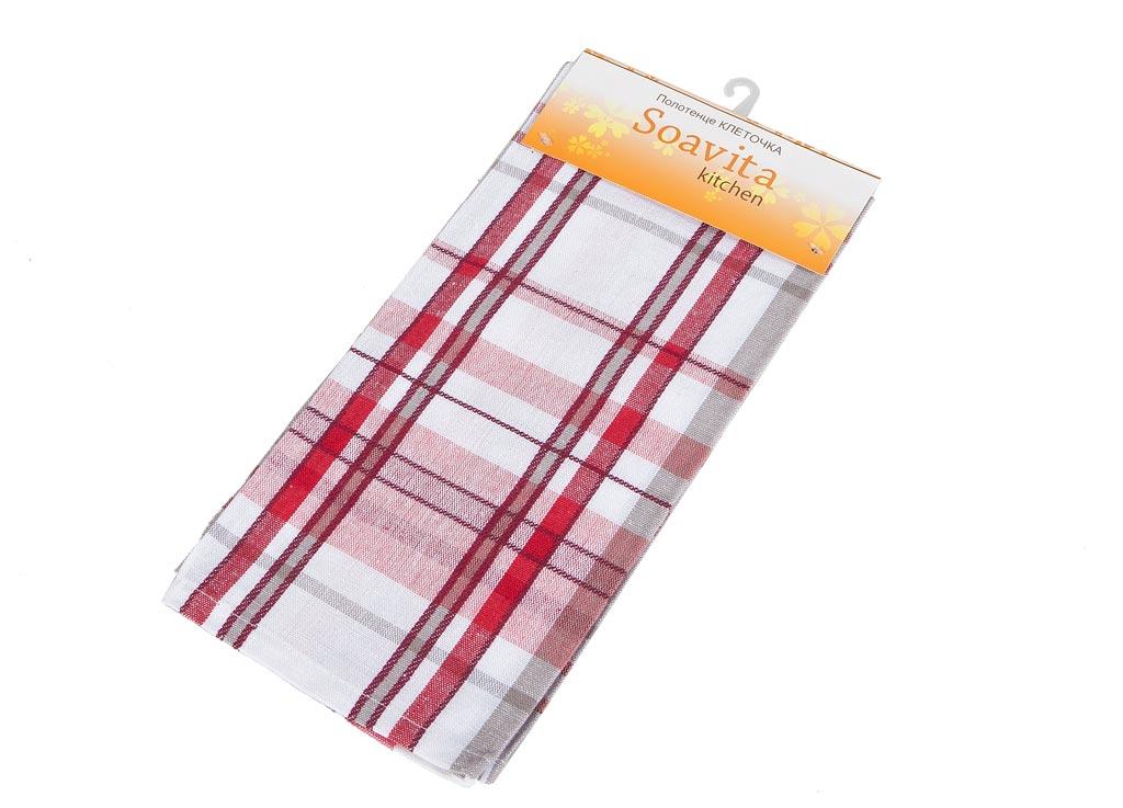Полотенце кухонное Soavita Клеточка, цвет: белый, красный, розовый, 45 х 65 см87489Кухонное полотенце Soavita Клеточка, выполненное из 100% хлопка, оформлено клетчатым рисунком. Изделие предназначено для использования на кухне и в столовой. Высочайшее качество материала гарантирует безопасность использования, высокую износостойкость и долгий срок службы. Такое полотенце станет отличным вариантом для практичной и современной хозяйки.Рекомендуется стирка при температуре 40°C.