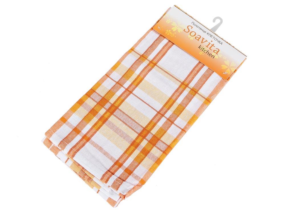 Полотенце кухонное Soavita Клеточка, цвет: белый, оранжевый, желтый, 45 х 65 смVT-1520(SR)Кухонное полотенце Soavita Клеточка, выполненное из 100% хлопка, оформлено клетчатым рисунком. Изделие предназначено для использования на кухне и в столовой. Высочайшее качество материала гарантирует безопасность использования, высокую износостойкость и долгий срок службы. Такое полотенце станет отличным вариантом для практичной и современной хозяйки.Рекомендуется стирка при температуре 40°C.