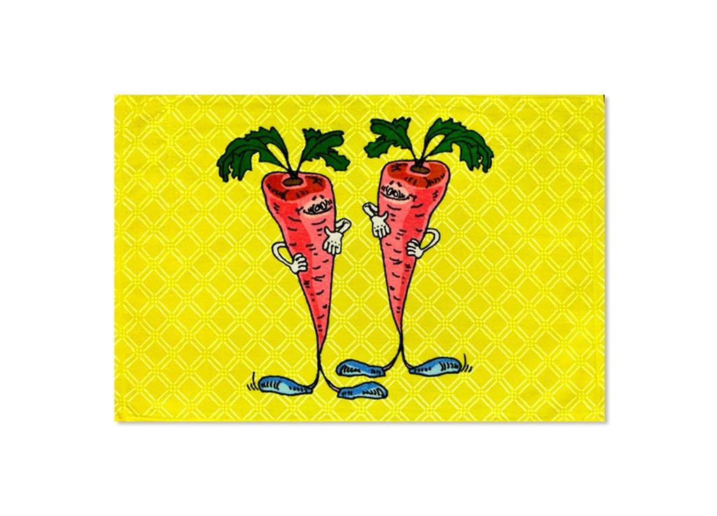 Полотенце Soavita Морковь, 40х60 см, цвет: желтыйVT-1520(SR)Перед использованием постирать при температуре не выше 40 градусов