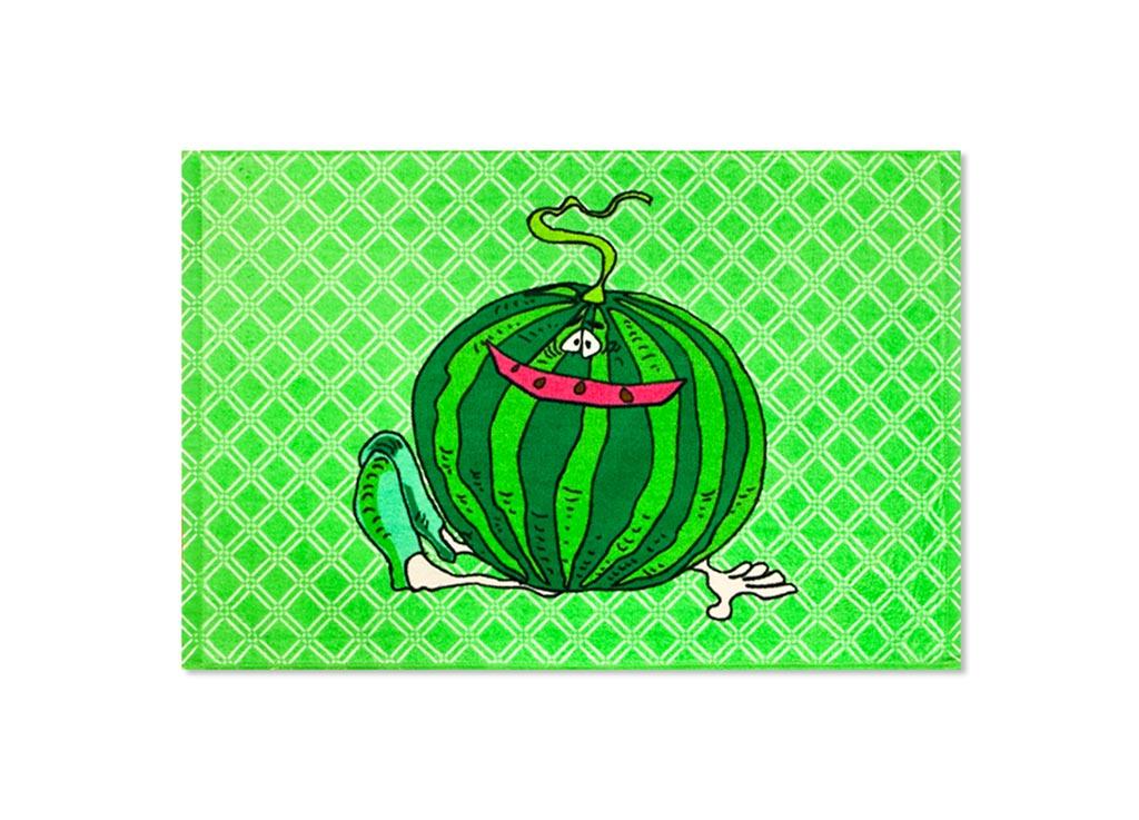 Полотенце Soavita Арбуз, 40х60 см, цвет: зеленыйCLP446Перед использованием постирать при температуре не выше 40 градусов