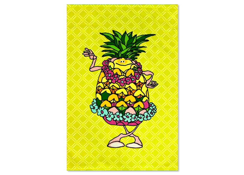Полотенце Soavita Ананас, 40х60 см, цвет: желтый1004900000360Перед использованием постирать при температуре не выше 40 градусов