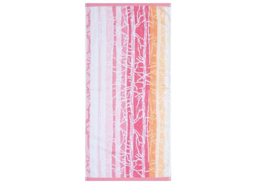 Полотенце Soavita Интер, цвет: розовый, оранжевый, 45 х 90 см68/5/3Полотенце Soavita Интер выполнено из 100% натурального, экологически чистого хлопка. Изделие прекрасно подходит для вытирания лица, рук или ног. Полотенце очень практично и неприхотливо в уходе. Оно отлично впитывает влагу, быстро сохнет, сохраняет яркость цвета и не теряет форму после многократных стирок. Такое полотенце идеально дополнит интерьер вашей ванной комнаты или кухни и создаст атмосферу уюта и комфорта.