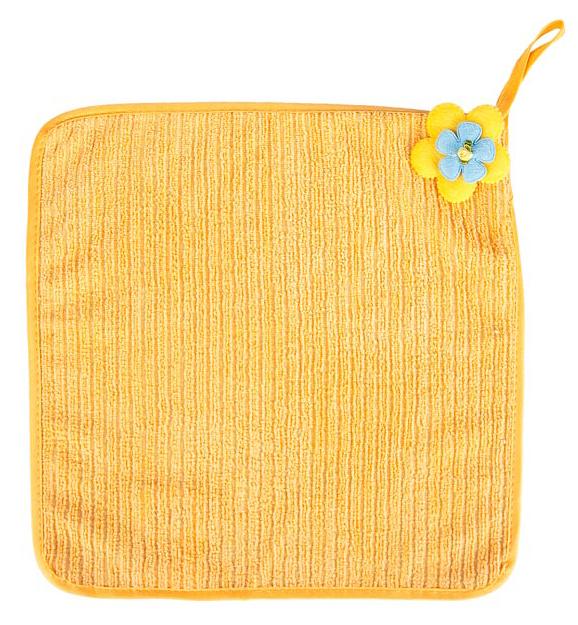 Салфетка кухонная Soavita Цветок, цвет: желтый, 30 х 30 смVT-1520(SR)Салфетка Soavita Цветок выполнена из микрофибры и декорирована нежным цветком. Идеально подходит для сухой и влажной чистки. Полностью удаляет воду, не оставляя следа. Превосходит все традиционные аналоги салфеток. В сухом виде подходит для деликатных поверхностей: стекол, зеркал, оптики, мониторов, мебели, бытовой техники и многого другого. Во влажном виде незаменима на кухне, в ванной, в уходе за автомобилем. Изделие оснащено петелькой для подвешивания на крючок.Салфетка создаст прекрасное настроение и украсит интерьер вашей кухни, а также прекрасно подойдет в качестве приятного презента. Перед использованием постирать при температуре не выше +40°С.