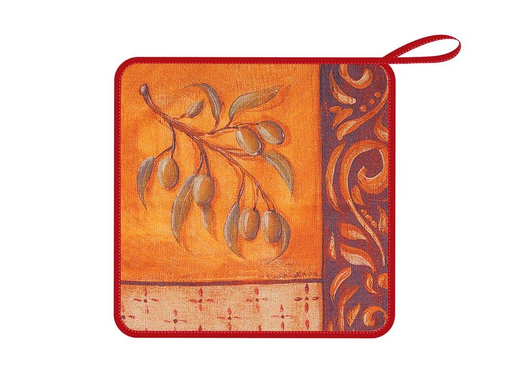 Салфетка кухонная Soavita Оливки, из микрофибры, цвет: терракотовый, 30 х 30 смVT-1520(SR)Кухонная салфетка Soavita Оливки выполнена из микрофибры и оформлена ярким рисунком. Салфетка идеально подходит для сухой и влажной чистки. Полностью удаляет воду, не оставляя следа. В сухом виде подходит для деликатных поверхностей: стекол, зеркал, оптики, мониторов, мебели, бытовой техники и многого другого. Во влажном виде незаменима на кухне, в ванной, в уходе за автомобилем. Изделие дополнено окантовкой и оснащено петелькой для подвешивания на крючок. Перед использованием постирать при температуре не выше +40°С.
