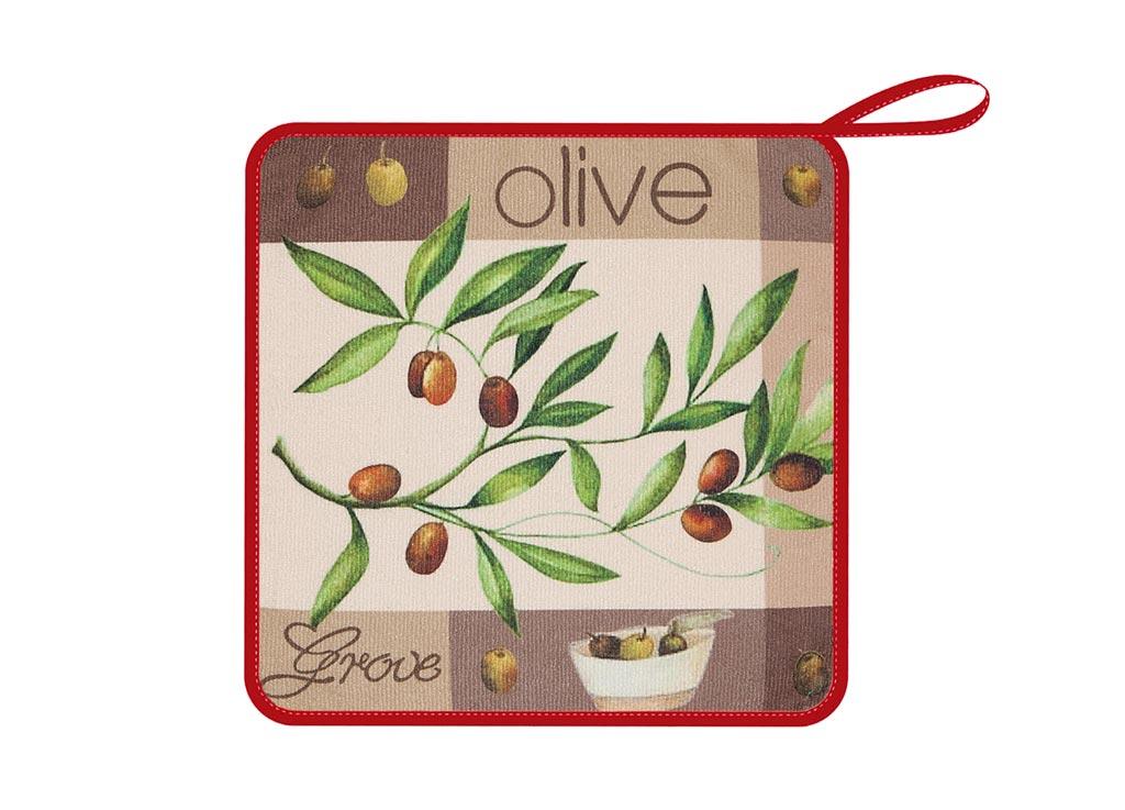 Салфетка кухонная Soavita Оливки, из микрофибры, цвет: серый, коричневый, 30 х 30 смVT-1520(SR)Кухонная салфетка Soavita Оливки выполнена из микрофибры и оформлена ярким рисунком. Салфетка идеально подходит для сухой и влажной чистки. Полностью удаляет воду, не оставляя следа. В сухом виде подходит для деликатных поверхностей: стекол, зеркал, оптики, мониторов, мебели, бытовой техники и многого другого. Во влажном виде незаменима на кухне, в ванной, в уходе за автомобилем. Изделие дополнено окантовкой и оснащено петелькой для подвешивания на крючок. Перед использованием постирать при температуре не выше +40°С.